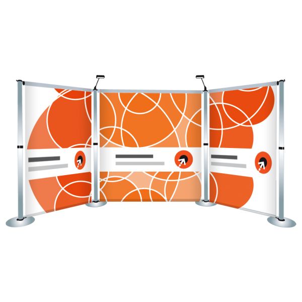 Gestaltung des Messewand-Display AERO XL