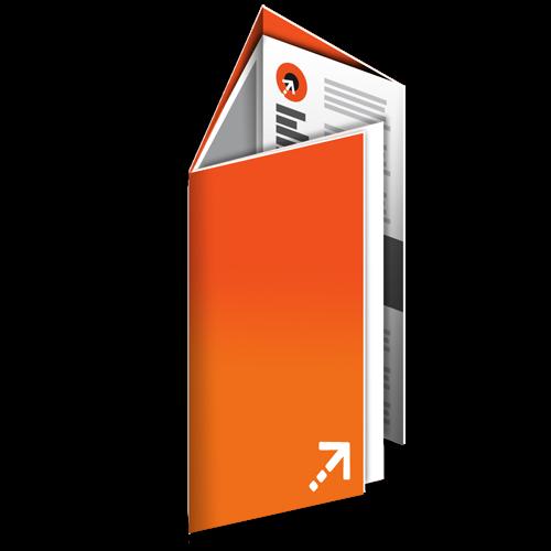 Falzflyer - Din lang | 12 Seiten | Sonderwickelfalz