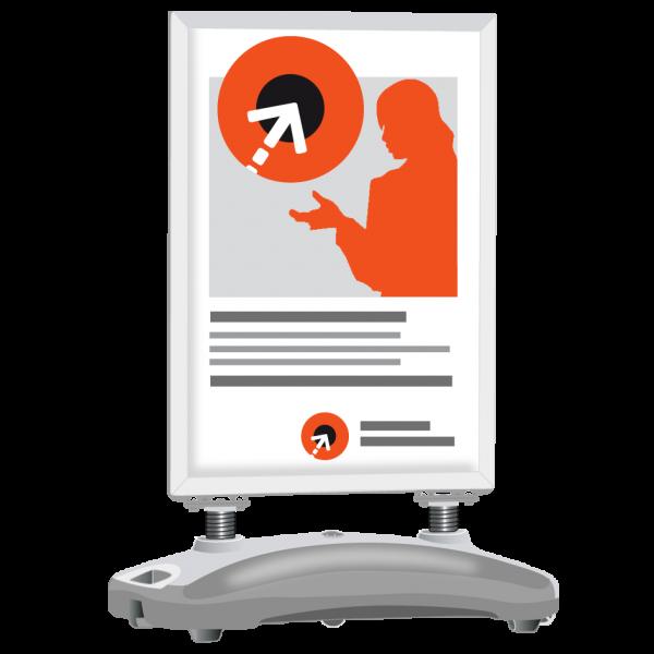 Plakatgestaltung für Kundenstopper WINDTALKER