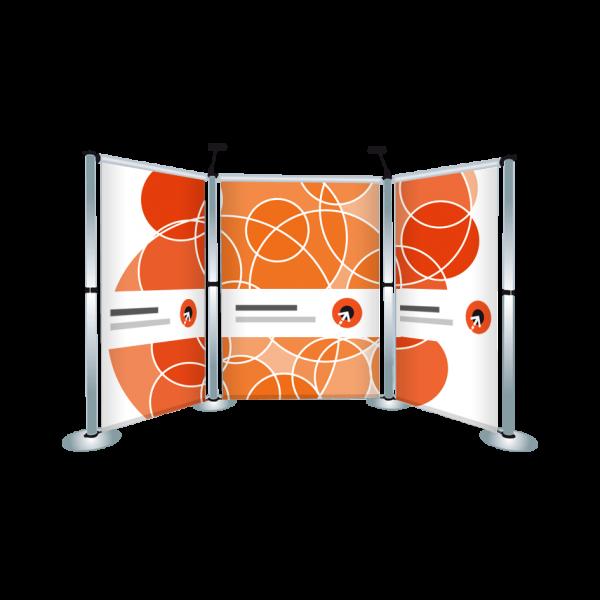Gestaltung des Messewand-Display AERO L