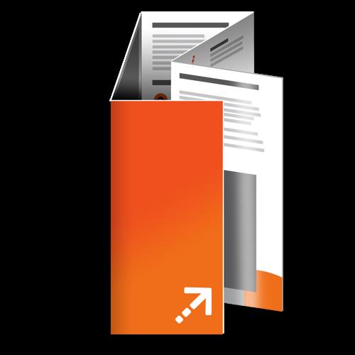 Falzflyer - Din lang | 10 Seiten | Doppelparallelfalz