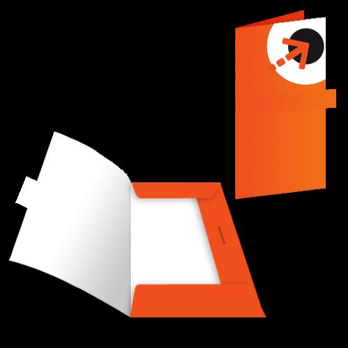 Präsentationsmappe – mit 3 Laschen + Verschluss | Din lang