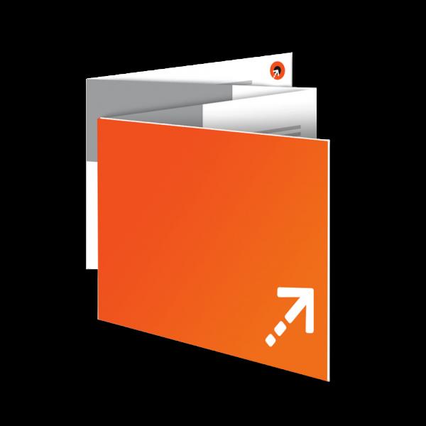 Flyer - Quadrat 100 | 8 Seiten | Zickzackfalz