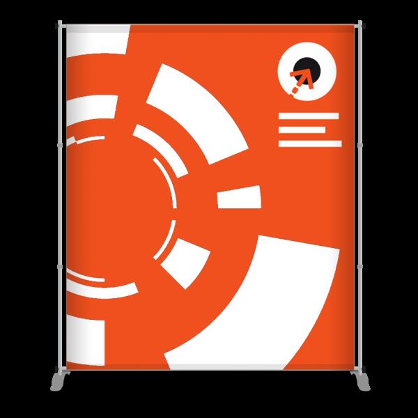 Gestaltung des Messe-Bannerdisplay PEGASUS 200