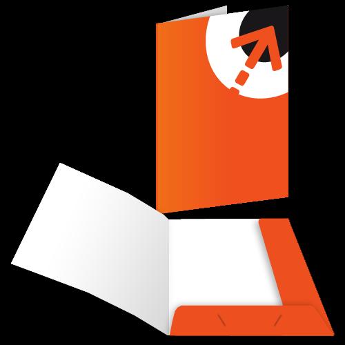 Präsentationsmappe – mit 2 Laschen | Din A6