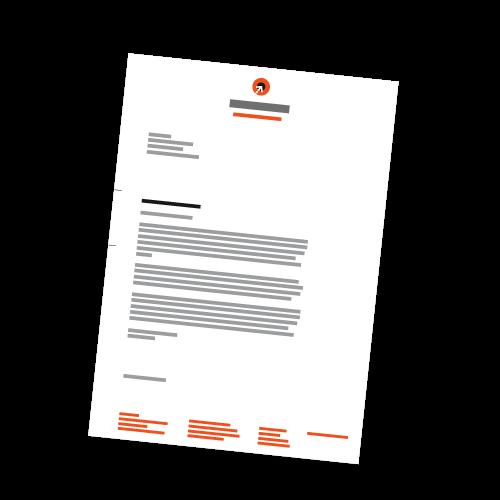 Briefbogen - DIN A4 | 1-seitig