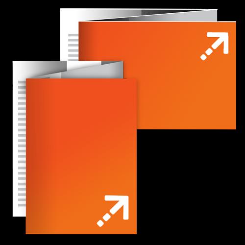 Falzflyer - Din A6 | 6 Seiten | Zickzackfalz