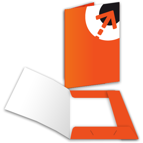 Präsentationsmappe – mit 3 Laschen | Din A6