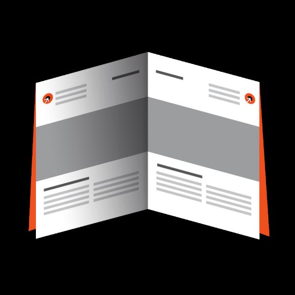 Falzflyer - Din A5 | 8 Seiten | Doppelparallelfalz