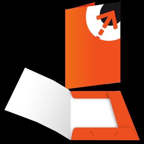Präsentationsmappe – mit 3 Laschen   Din A5