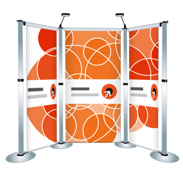 Gestaltung des Messewand-Display AERO S