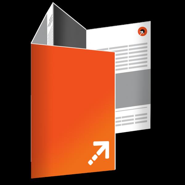 Falzflyer - Din A4 | 8 Seiten | Wickelfalz