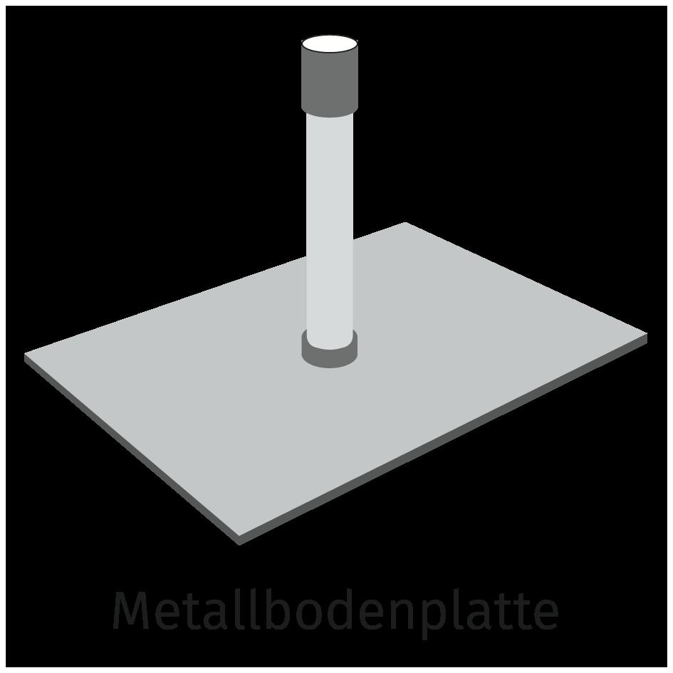 Metallbodenplatte