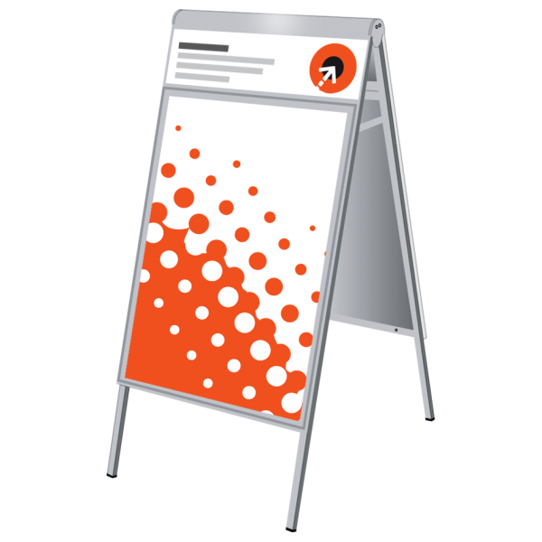 Plakatgestaltung für Kundenstopper COMPASSO PLUS