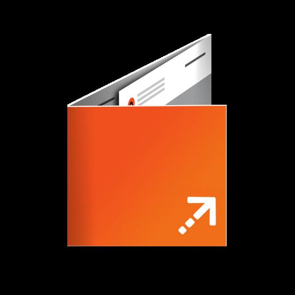 Flyer - Quadrat 100 | 6 Seiten | Wickelfalz