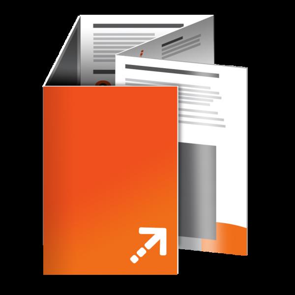 Falzflyer - Din A6 | 10 Seiten | Sonderwickelfalz