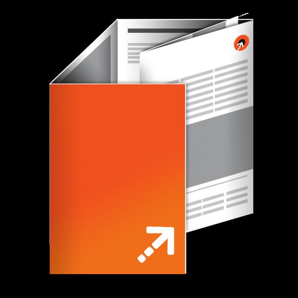 Falzflyer - Din A6 | 10 Seiten | Wickelfalz