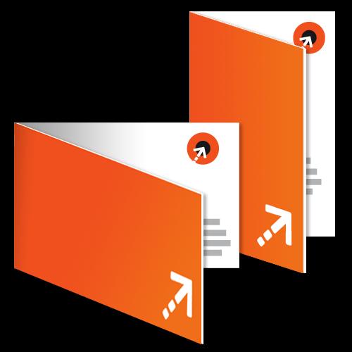 Klapp-Visitenkarte - 55 x 85 mm | 4-seitig
