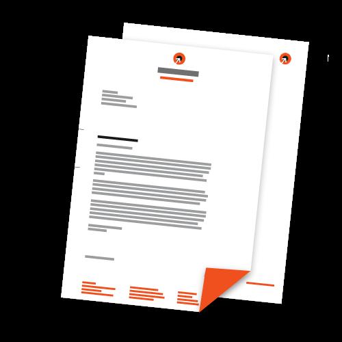 Briefbogen + Folgebogen - DIN A4 | 2-seitig