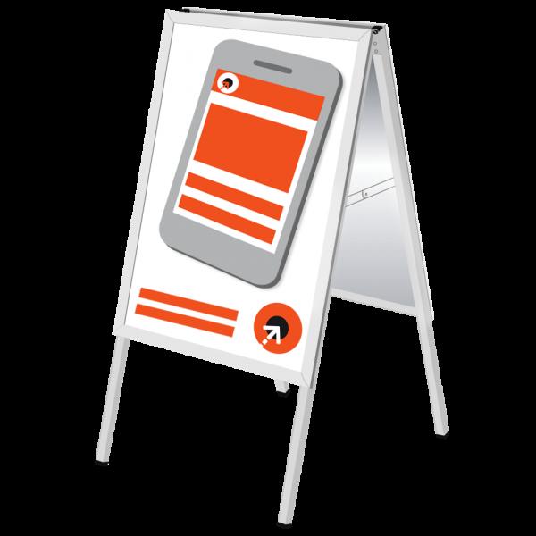 Plakatgestaltung für Kundenstopper STANDARD INDOOR