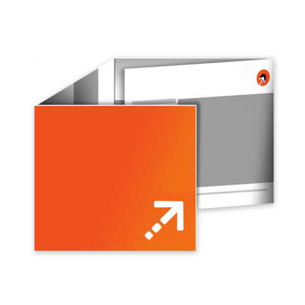 Flyer - Quadrat 100 | 8 Seiten | Wickelfalz