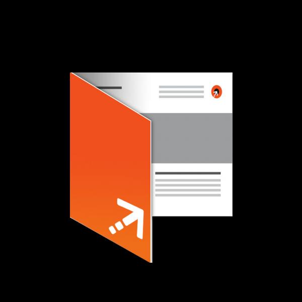 Flyer - Quadrat 100 | 4 Seiten | Einbruchfalz