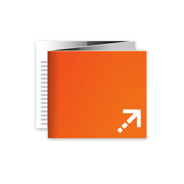 Flyer - Quadrat 120 | 6 Seiten | Zickzackfalz