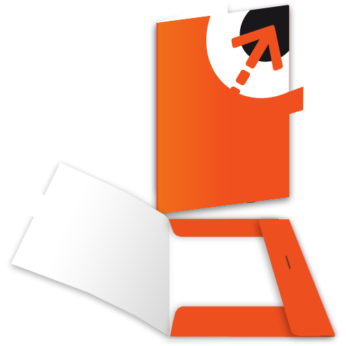 Präsentationsmappe – mit 3 Laschen + Verschluss | Din A5