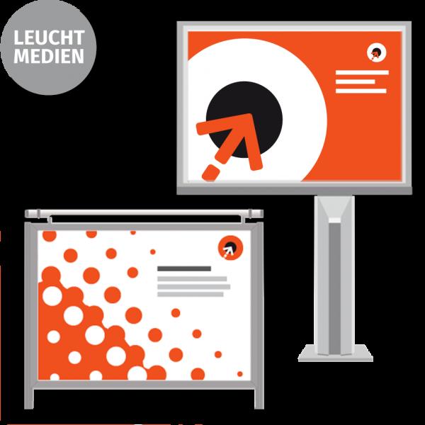 Megalightboard-Poster - 18/1-Format | 1-seitig