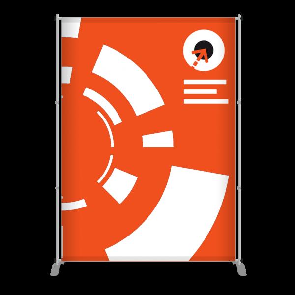 Gestaltung des Messe-Bannerdisplay PEGASUS 170