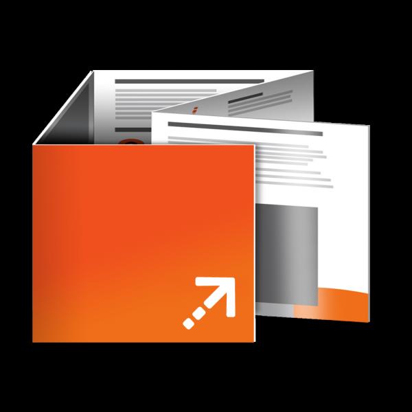 Flyer - Quadrat 105 | 10 Seiten | Sonderwickelfalz