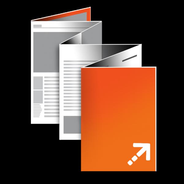 Falzflyer - Din A7 | 12 Seiten | Zickzackfalz