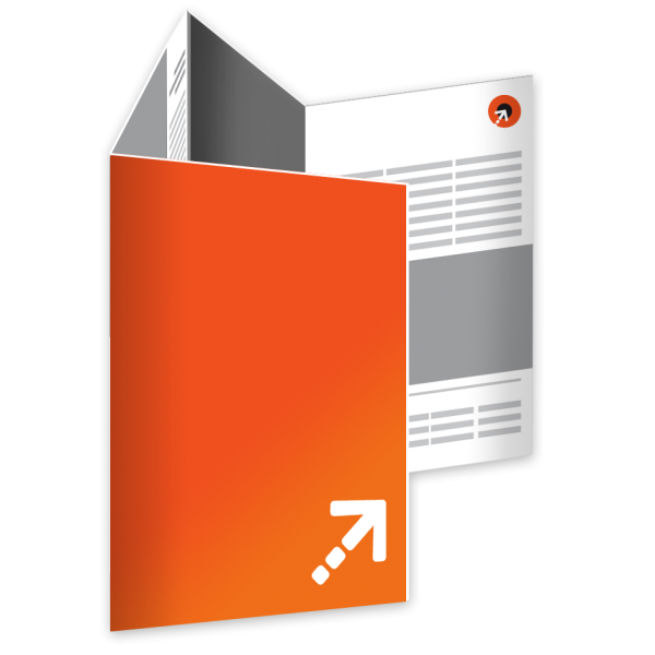Falzflyer - Din A7 | 8 Seiten | Doppelparallelfalz