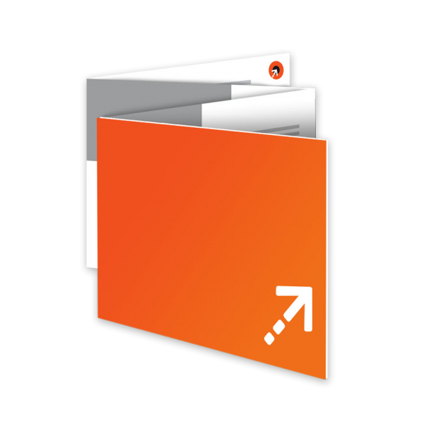 Flyer - Quadrat 120 | 8 Seiten | Zickzackfalz