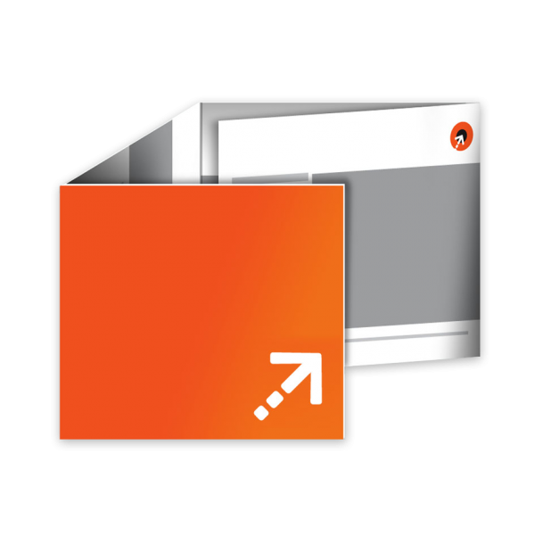 Flyer - Quadrat 120 | 8 Seiten | Wickelfalz