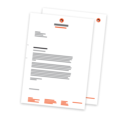 Briefbogen + Folgebogen - DIN A4 | 1-seitig