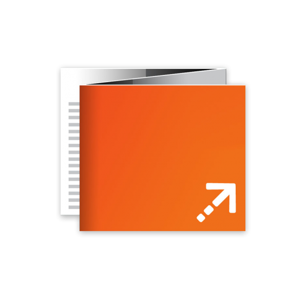 Flyer - Quadrat 100 | 6 Seiten | Zickzackfalz