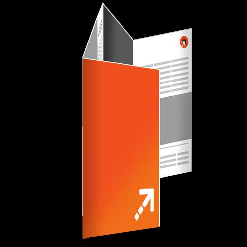 Falzflyer - Din lang | 8 Seiten | Doppelparallelfalz